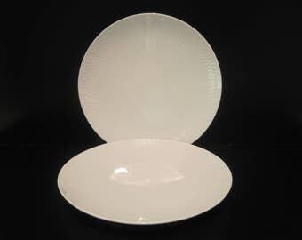 """Royal Copenhagen Wheat 6 7/8"""" Dessert/Pie Plate White porcelain Set 2 4221 Danish Modern"""