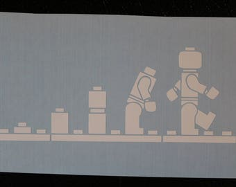 Lego Evolution of Man Decal Any Size Any Colors