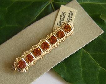 Original old upper Steiner jewellery - brooch rhinestone