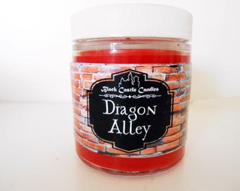 Diagon Alley Candle - Harry Potter Inspired - Black Castle Candles - Soy-blend Wax - 4 oz Container