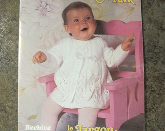 Beehive Baby Talk / Beehive Astra 463 / Vintage baby knitting patterns