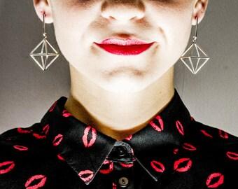 "Orecchini geometrici ""aria"" earrings geometric ""air"" argento 925 Gold Silver Rings | Minimalistic"