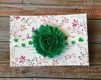 St Patricks Day Headband/Green Headband/Flower headband/Irish Headband/Green Baby Headband/Clover Headband/St Pattys Day Headband/St Patrick