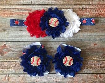 Chicago Cubs Headband/Baseball Headband/Headband/Cubs/Baseball/Cubs Headband/Cubs Baseball/Baby Headband/Newborn Headband/Baby Girl Headband