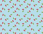 Sew Cherry 2 Cherry in Aqua from the Sew Cherry 2 Collection by Lori Holt for Riley Blake