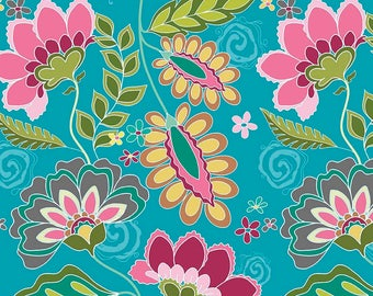 Fantine Main in Blue from the Fantine Collection by Lila Tueller for Riley Blake Fabrics