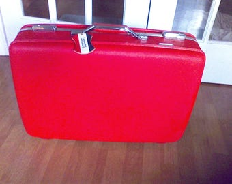 Suitcase ,old luggage,Red Suitcase,American Tourister