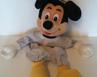 Vintage 70s Mickey Mouse Zip Back Plush