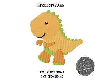 Embroidery design embroidery file Dino dinosaur T-Rex