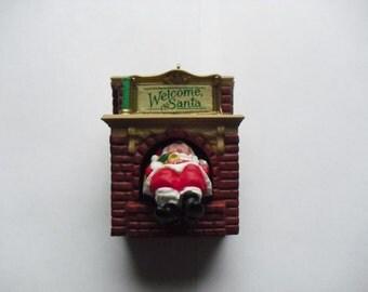 Hallmark Ornament -  Welcome Santa  1990