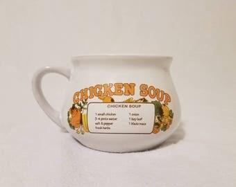 Vintage Chicken Soup Recipe Mug