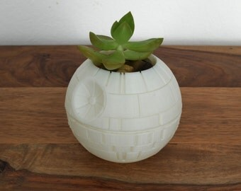 Star Wars 3d Printed Death Star Succulent Planter Votive, Star Wars Decor, Black Friday, Cyber Monday