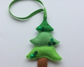Felt Christmas tree decoration handmade