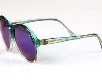 Givenchy Vintage 1980's Sunglasses w/ New Flash Frame Blue Lens GIVENCHY -K- Unico-Frame 62-5 GR France.