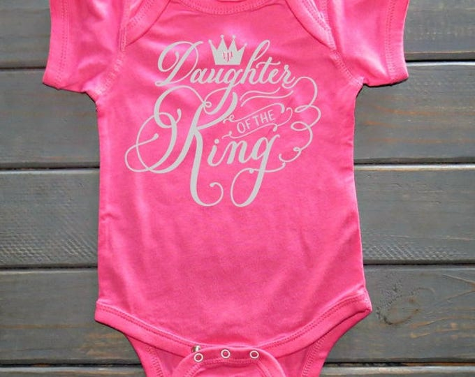 Daughter Of The King Bodysuit, Baby Girls' Clothing, Baby Shower Gifts, Religious Baby Clothing, Gifts For Her