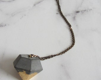 Concrete links necklace diamond/gold/silver/copper/black/chain/pendant