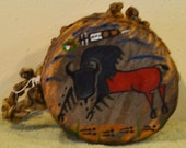 Tatanka ( Buffalo) /Native American Lakota Buffalo Hide Drum Painted by Sonja Holy Eagle