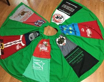 Race Shirt Christmas Tree Skirt