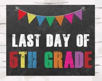 5th grade sign | Etsy