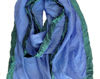Blue Scarf | Lapis Scarf | Gift for Her| Soft Scarf | Boho Hand Dyed Scarf | Turquoise | Modern Scarf | Womens Scarves | Elegant Scarf
