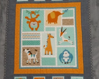 Jungle Baby Quilt **ON SALE**