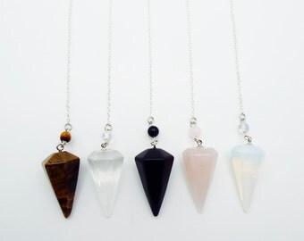Hexagon Gemstone Pendulum