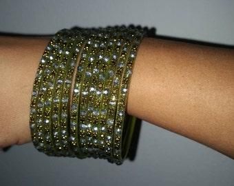 Green bangles//olive green bangles//green bracelet//olive green bracelet//olive green bangles//olive green jewelry//green jewelry//
