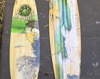 Used Bamboo Longboard Skate Deck