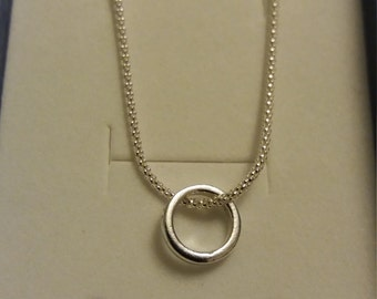 Promise Necklace in Sterling Silver for your Valentine