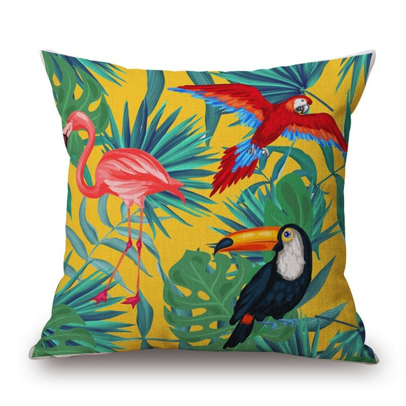 coussin perroquet