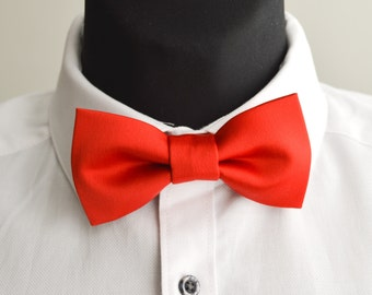 Red bow tie for men, wedding bow tie, gift for him, groom gift, adult bow tie, suit accessories, red fabric bow, birthday gift, women tie