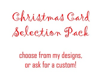 Selection Pack of 10 Christmas Cards - Choose your own mix!