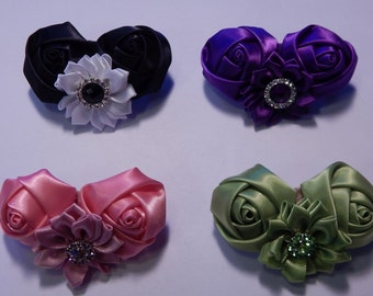 Double Rose Barrette