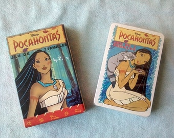 Old deck of cards POCAHONTAS of Disney without use or remove of blister.