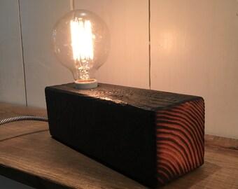 Edison Lamp Wood Char Shou-Sugi-Ban