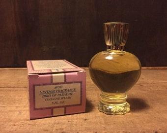 Unused, Vintage Avon, Bird of Paradise, Cologne Splash. .5 fl.oz., Vintage Avon, Womens Perfume, Perfume, Cologne, Vintage Fragrance.