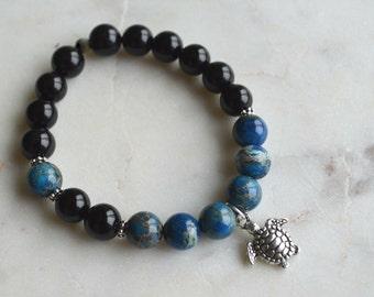 DEEP OCEAN - Sediment fact & Agate bracelet