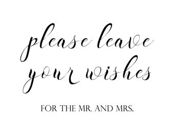 leave your wishes for the Mr. and Mrs printable