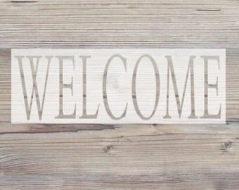 WELCOME Vinyl Stencil // Customized Stencil // DIY Decor