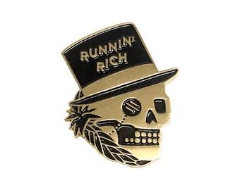 Runnin' Rich soft enamel pin