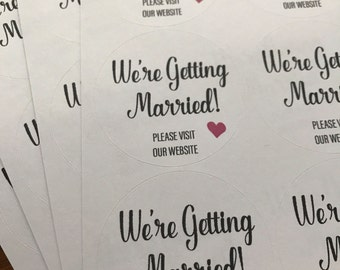 Wedding Favors, We're Getting Married, Wedding Stickers, Shower Stickers, Wedding Shower Stickers, We are Getting Married Stickers