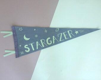 Lil' Stargazer Felt Pennant Flag