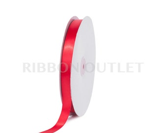 "5/8"" Christmas Valentine Red Satin Ribbon 100 Yards Per Roll"