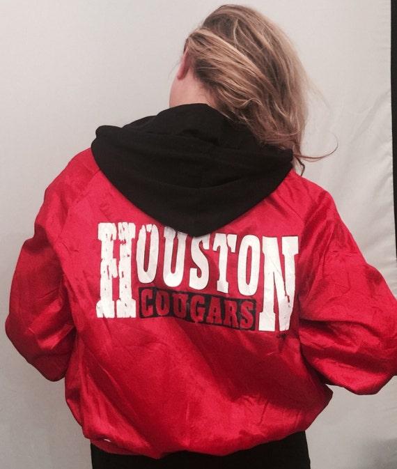 EV 112 Huston cougars red shiny ladies baseball jacket
