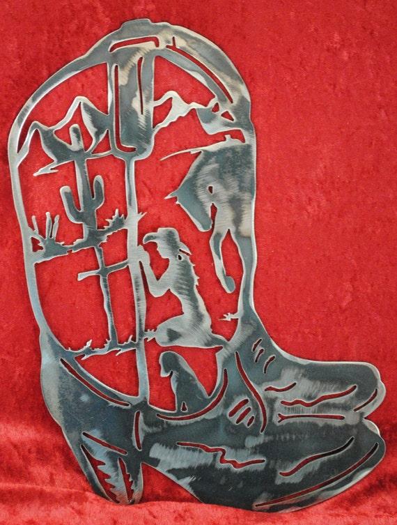 Cowgirl Boots, Praying Cowgirl Boots, Praying Cowgirl, Western Decor, Western Mountain Lodge, Metal Cowgirl Boots, Gift to Cowgirl, Gift