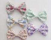 floral 5 bows headband set