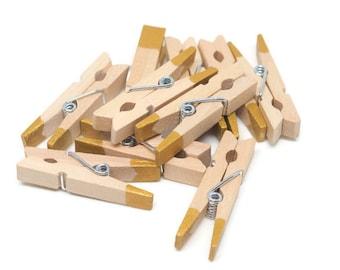 10 Mini Clothespin, Gold Clothespin,Metallic Clothespin,Mini Clothes Pin,Colored Clothespin,Party favors,Wedding Invitation,Bridal Shower
