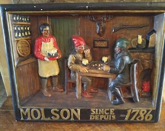 Plaster de Tavern Molson's of the 1930s