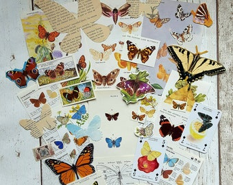 Butterfly Collage Pack , Butterfly Paper ,  Butterflies , Scrapbook Supply , Altered Art , Embellishments , Unique Paper Pack
