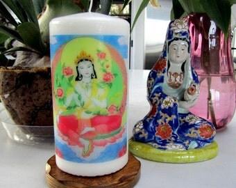 White Tara Candle